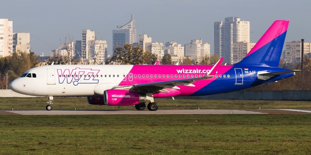 Airbus Wizz Air in Aeroportul International Kyiv Zhulyany