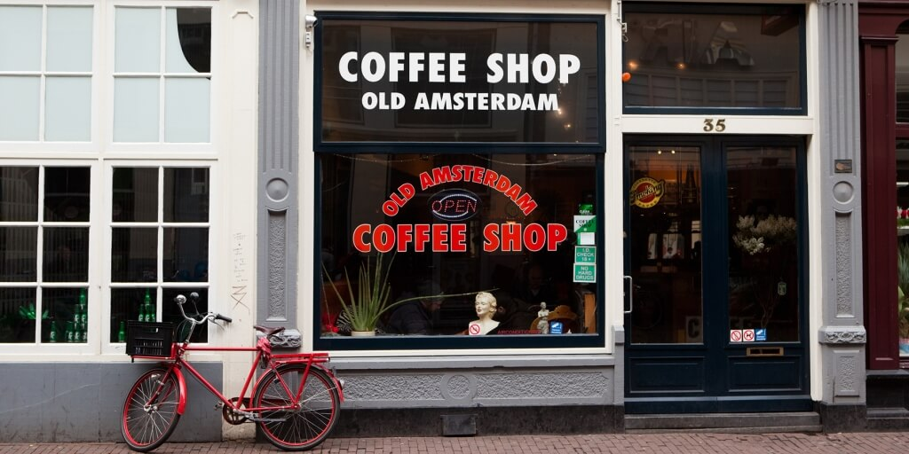 Cofee shop in Amsterdam